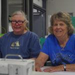 Erica Behnke, trial secretary and QCDTC's President, and Jane Dewey, co-secretary and Jane Dewey