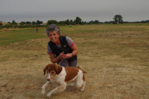 Diane Myers with her dog Marley at Yellowstone Dog Sports, Roberts MT