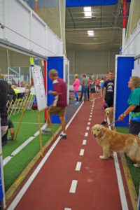 aisle between two rings used for lining up for the gate, Crown Sports, Eden MD